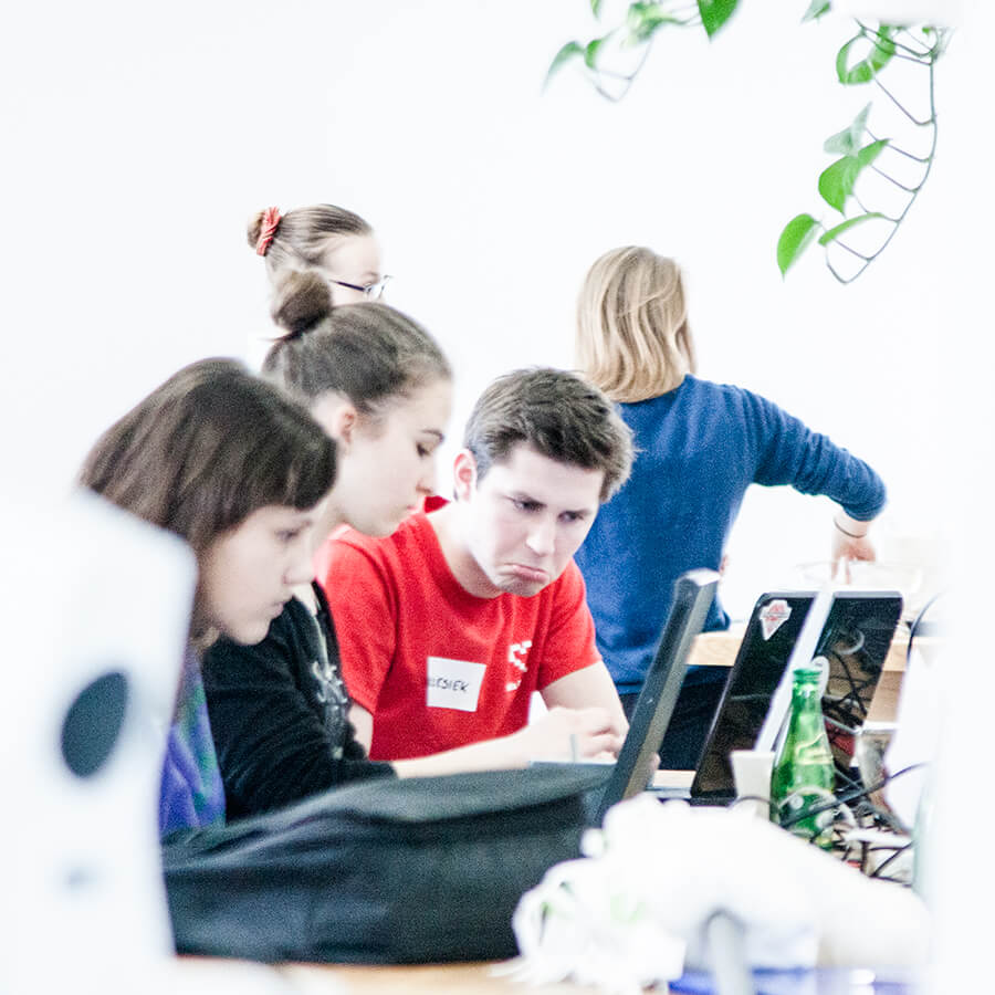 Grzesiek at Rails Girls Youth