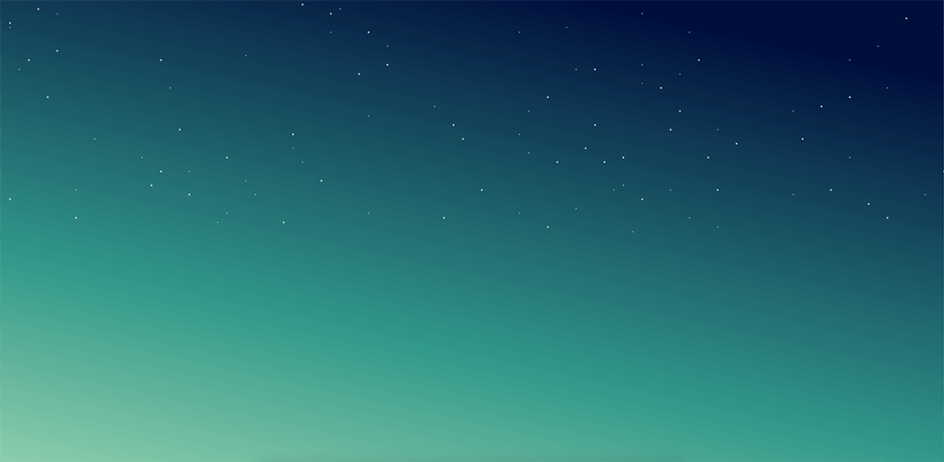 Auroral CSS gradient with starry dots