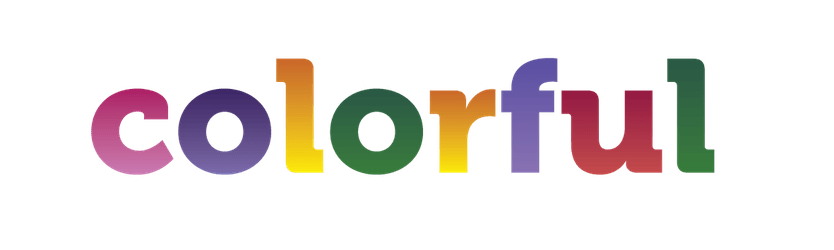 Image with a colorful text saying 'colorful'
